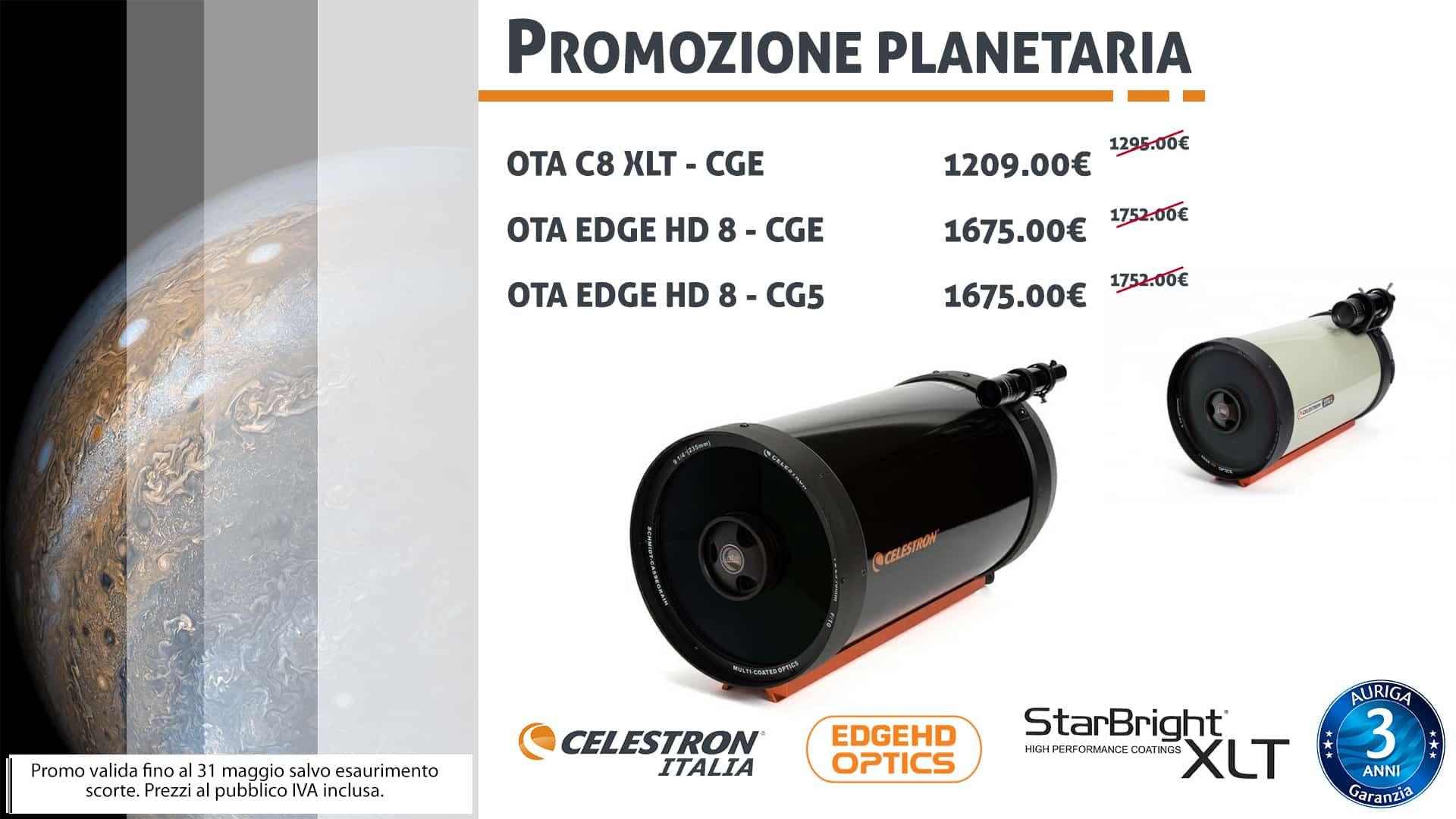 Promozione Planetaria Celestron C8 XLT & Edge HD 8