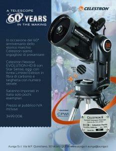 60 Anniversario Celestron – Limited Edition Nexstar EVO 8HD con Star Sense